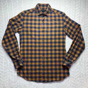 Massimu Dutti Button Down Plaid Long Sleeve Shirt